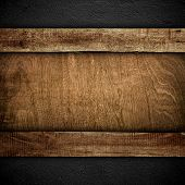 old wood board on wall background