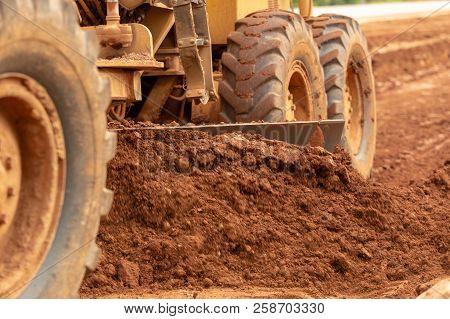 poster of Motor Grader Civil Construction Improvement Base Road Work, Motor Grader Civil Construction