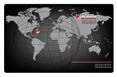 Business background with map of the world and airplane. EPS10 vector illustration.