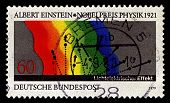 GERMANY-CIRCA 1979:A stamp printed in Germany shows image of In the photoelectric effect, Albert Ein