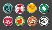 vector bottle cap buttons set 3