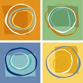 picture of foursome  - vector abstract geometric shapes - JPG