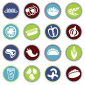vector food icons set 5