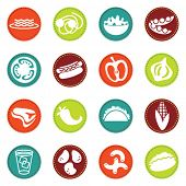 Vector alimentos icons set 8