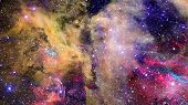 Galaxy And Nebula In Deep Space. Elements Of This Image Furnished By Nasa. poster