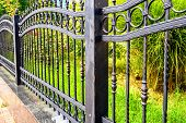 Wrought Iron Fence, Black Metal Iron Fencing poster