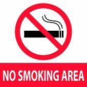 No Smoking Area Icon On White Background. Flat Style. No Smoking Sign. No Smoking Area Icon For Your poster