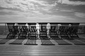 TRANSATLANTIC CROSSING - CIRCA OCTOBER 2011 - Queen Mary 2 Deckchairs