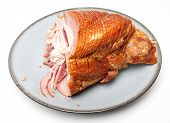 Half Eaten Spiral Sliced Ham