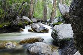 image of mt whitney  - Mt Whitney Portal campground river during late summer - JPG