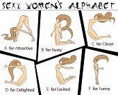 Sexy alfabeto da a F