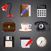 Collection of realistic icon, vector