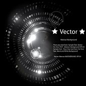 Vector Shining Abstract Circle on Black Background