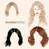 Vector Hairdo Style