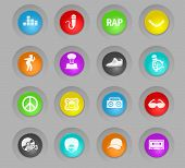 Rap Colored Plastic Round Buttons Web Icons For User Interface Design poster