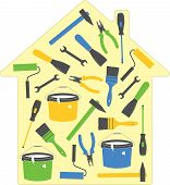 House tools (icons), vector illustration