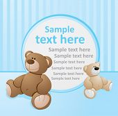 Blue template with bears