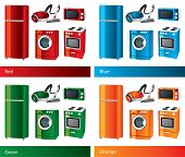 Set of icons. Home appliances