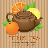 Teapot. Citrus tea
