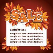 Autumn sale. Vector template