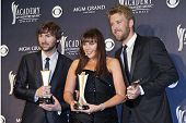 LAS VEGAS - APRIL 3 - Lady Antebellum in the press room at the 46th Annual Academy of Country Music