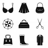 Nice Clothes Icons Set. Simple Set Of 9 Nice Clothes Icons For Web Isolated On White Background poster