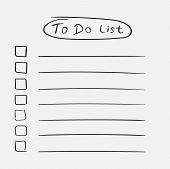 To Do List Icon With Hand Drawn Text. Checklist, Task List Vecto poster