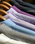 man shirts on hangers