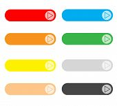 Empty Web Button Set On White Background. Set Of Colored Web Buttons. Blank Colored Internet Web But poster