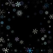 Falling Snow Confetti, Snowflakes Vector Background. Festive Winter, Christmas, New Year Sale Backgr poster