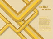 An abstract retro lines background in shades of yellow and brown saved in EPS10 format