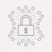 Cyber Security Icon Line Element. Vector Illustration Of Cyber Security Icon Line Isolated On Clean  poster
