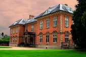 Seventeenth century stately home Tredegar House which is a fine example of a red brick mansion of thee period