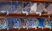 Iznik-style plates in Pottery shop of Istanbul