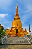 stock photo of budha  - Thai Stupa in Wat Phra Kaeo - JPG