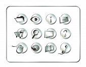 Icon Set Silver