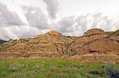 Storm Clouds Over The Badlands