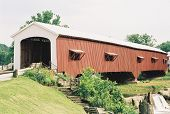 This is a covered bridge in Indiana