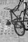 shadow of bike with a unique angle