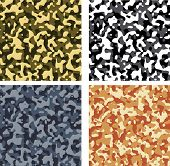 Seamless Camouflage Pattern Set