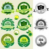 Organic Products  Logos, Stickers and Labels
