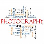Concepto de fotografía Word Cloud