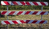 Red and White Warning Fence