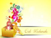 pic of ramazan mubarak card  - Beautiful Eid Mubarak greeting card - JPG