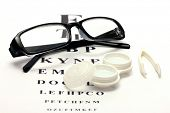 stock photo of snellen chart  - glasses - JPG