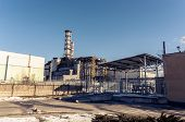 stock photo of radium  - The Chernobyl Nuclear Power plant 2012 March - JPG
