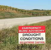 Drought Conditions Advisory Sign