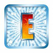 Alphabet Celebration Letter - E