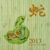 Chinese Calligraphy 2013 for Year of Snake