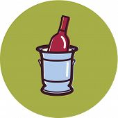 Illustration Of A Wine Cooler